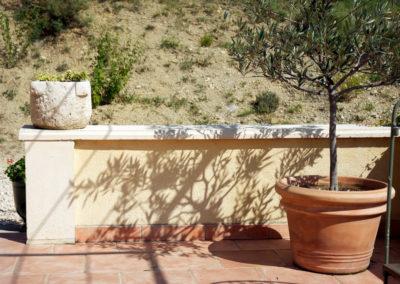 Muret et couvertine de mur