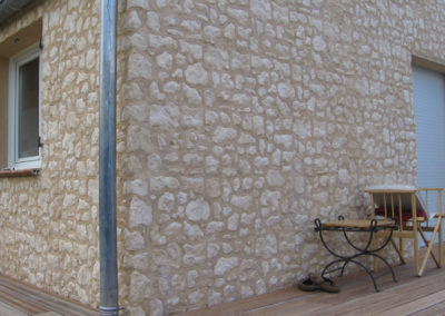 Recouvrement de murs en parments