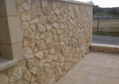 Recouvrement de murs en parements