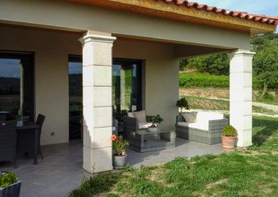 Fabrication de piliers pour terrasse couverte