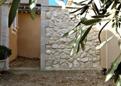 Parement de mur effet pierre